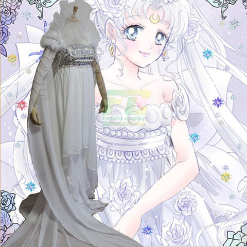 Free Shipping Sailor Moon Princess Serenity dress Tsukino Usagi cosplay costume