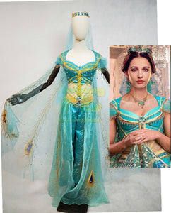 2019 Movie Aladdin Jasmine Princess Cosplay Costume Custom Made Top Quality