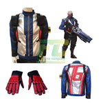 Load image into Gallery viewer, Overwatch OW Soldier 76 John Jack Morrison Jacket Gloves Cosplay Costume - fortunecosplay
