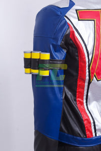 Overwatch OW Soldier 76 John Jack Morrison Jacket Gloves Cosplay Costume - fortunecosplay