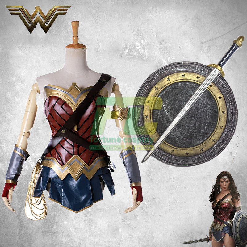 Free Shipping Batman v Superman: Dawn Justice Wonder Woman Cosplay Costume Super Hero