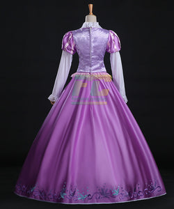 Tangled Rapunzel Princess Dress Halloween Cosplay Costume - fortunecosplay