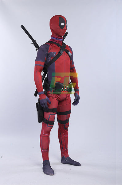 Deadpool Avengers Cosplay Costume Zentai Halloween Lycra Spandex Full Body Super Hero