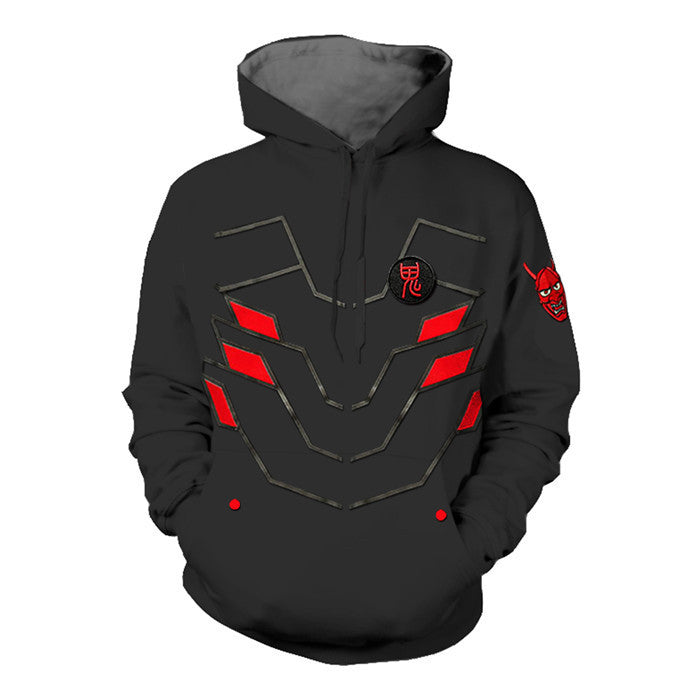 Overwatch Genji Oni Skin Hoodie Men's Women Hoodies Sweatshirts Casual Jacket