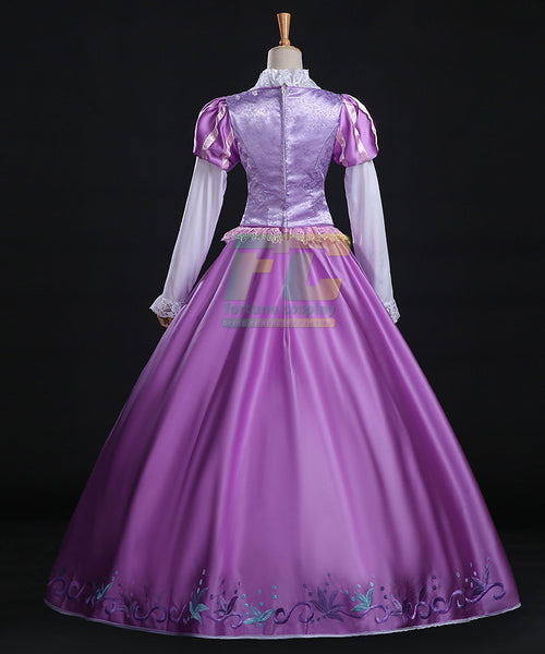 Tangled Rapunzel Princess Dress Halloween Cosplay Costume