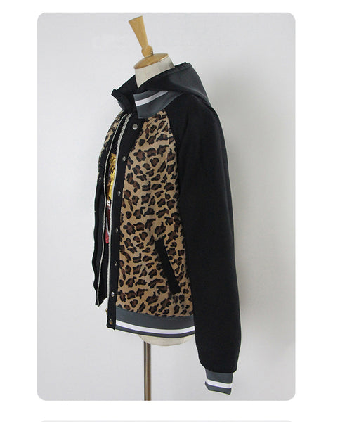 Yuri on Ice Plisetsky Yuri Cosplay Costume Leopard Coat Jacket