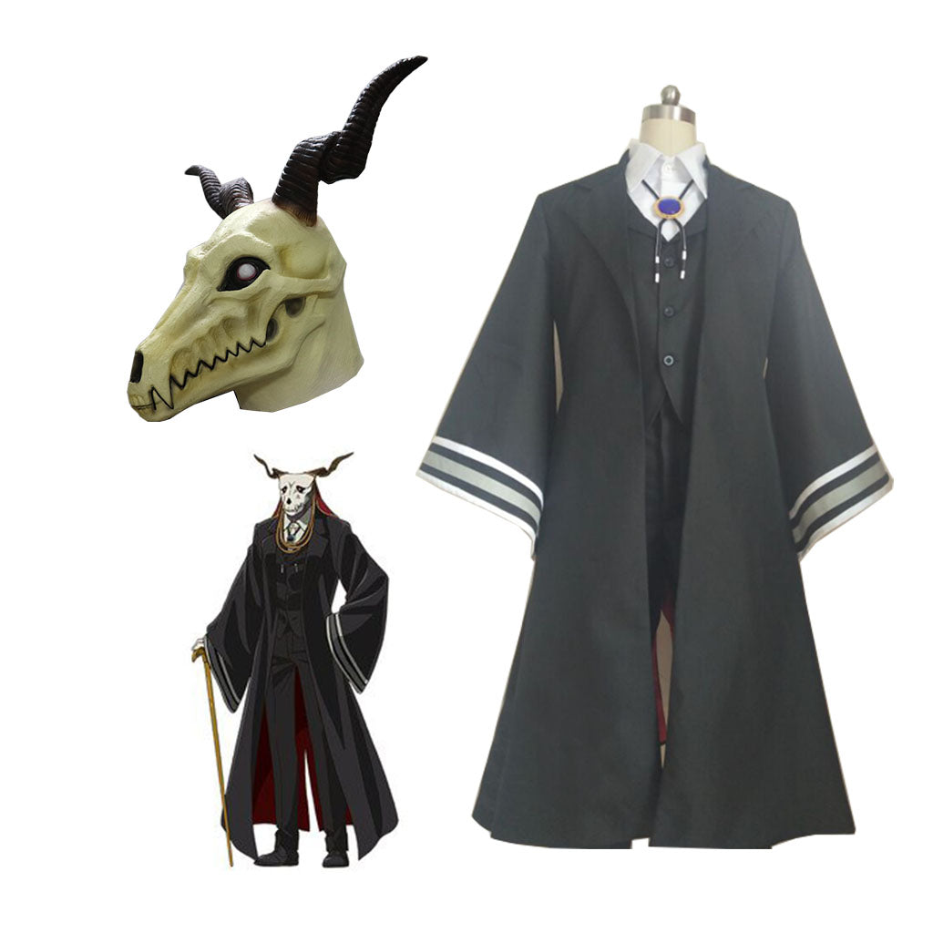 Mahoutsukai no Yome Cosplay Costumes Elias Uniform Japanese Anime The Ancient Magus Bride Black Full Set