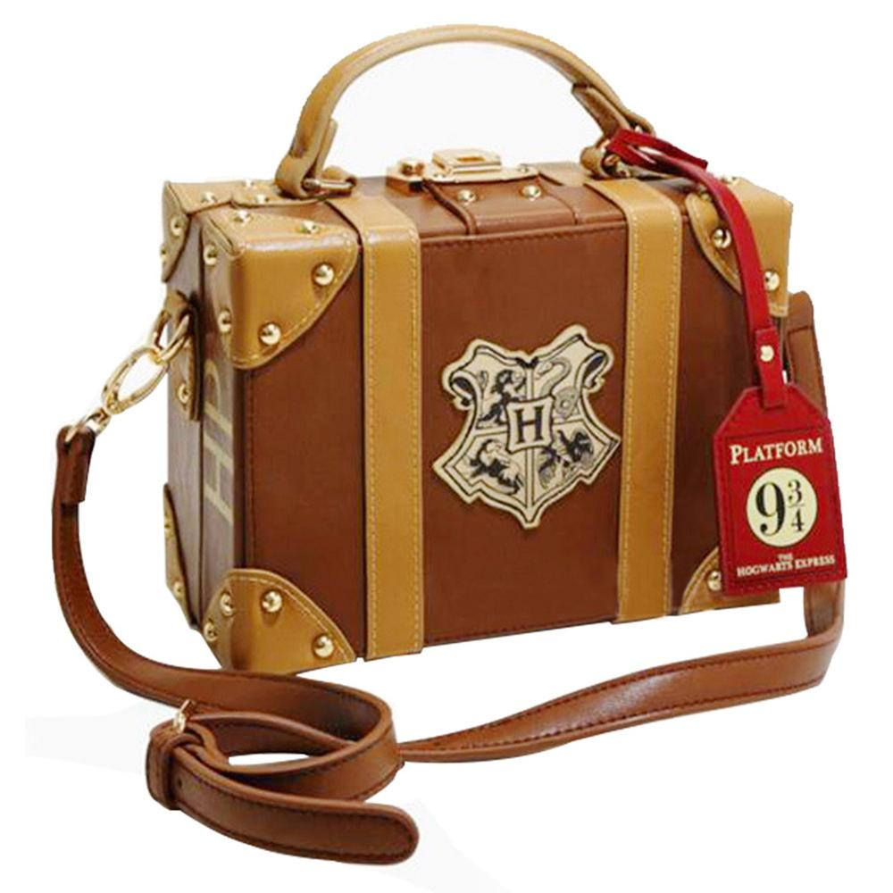 Harry Potter Bag Hogwarts PU School Badge Small suitcase Shoulder bag Handbags Halloween Christmas Gifts