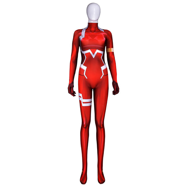 DARLING in the FRANXX 02 Zero Two Cosplay Costume Zentai Bodysuit Suit Jumpsuits