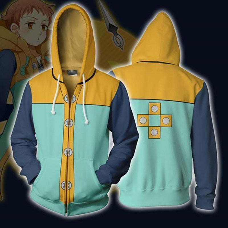 Grizzly's Sin of Sloth Harlequin king Hoodie The Seven Deadly Sins Sweatshirt