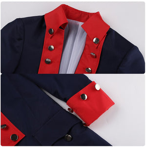 Alexander Hamilton Outfit Musical Rock Opera Concert Cosplay Costume Man Stage Trench Halloween Carnival Shows