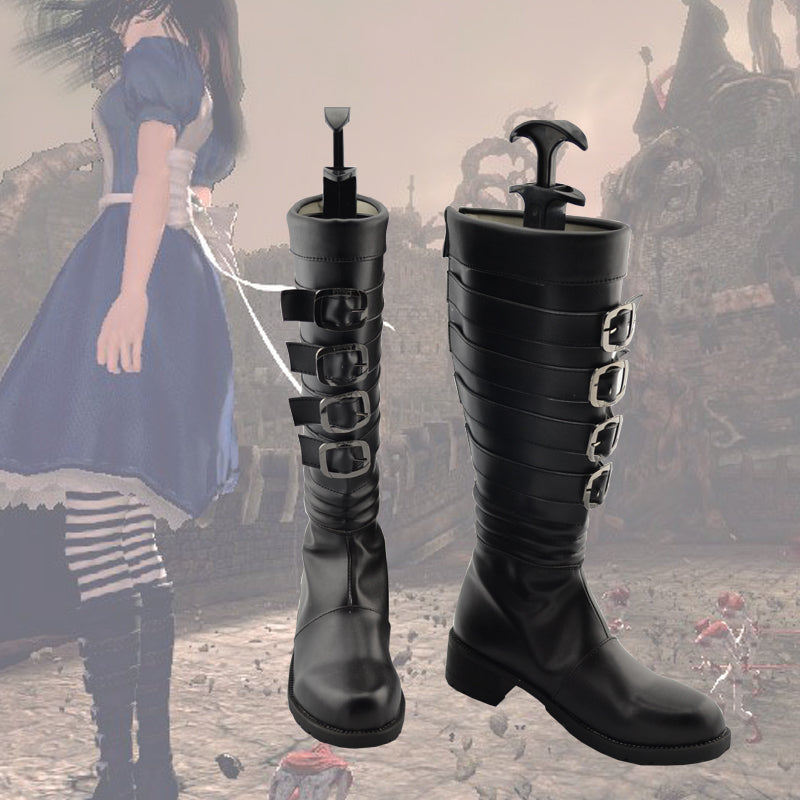 Alice Madness Returns Alice Cosplay Shoes Boots Custom Made