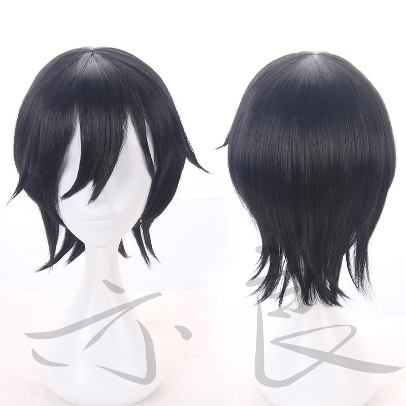 Angels of Death Isaac Foster Zack Cosplay Mens Short Straight Black Cosplay Wig