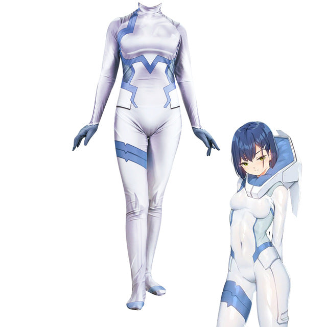 3D Women DARLING in the FRANXX ICHIGO Cosplay Costume Zentai Bodysuit Suit Jumpsuits