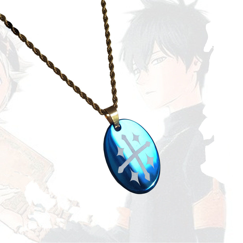 Black Clover Cosplay Yuno Necklace Props Pendant Jewelry - fortunecosplay