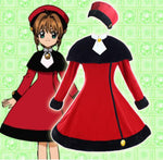 Load image into Gallery viewer, Cardcaptor Sakura Red Heart Woolen Winter Lolita Dress cosplay costume - fortunecosplay