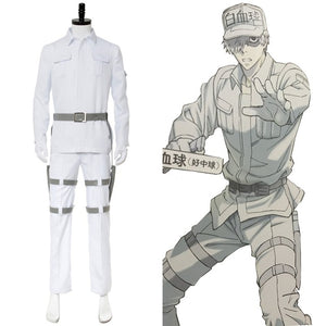 Cells at Work! White blood cell Neutrophil Kochukyu Cosplay Costume Custom Made