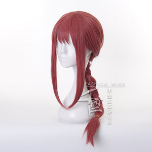 Anime Chainsaw Man Makima Cosplay Braid Wig Heat-resistant Fiber Hair + Wig Cap Halloween Party Role Play