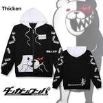 Load image into Gallery viewer, Anime Danganronpa Monokuma Cosplay Costume Unisex Hoodie Sweatshirt Hooded Black White Bear Long Sleeve daily casual coat Jacket