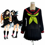 Load image into Gallery viewer, Anime Demon Slayer Kimetsu no Yaiba Cosplay Nezuko Kamado Makomo Cosplay Costume JK School Uniforms Sailor Suit Girls Women