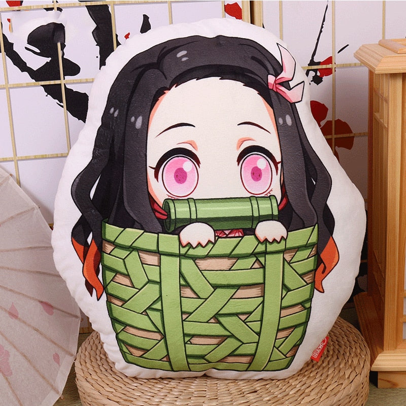 Anime Demon Slayer Kimetsu no Yaiba Kamado Nezuko Cosplay Doll Plush Stuffed Cushion Throw Pillow Toy Gift NEW Nezuko Tanjirou