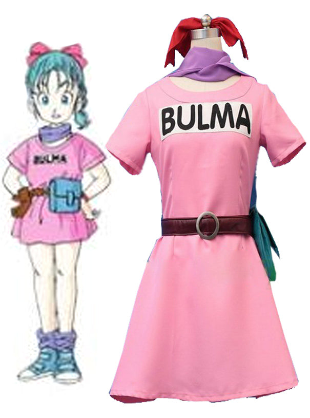 Anime Dragonball Z Bulma Cosplay Costume Tailor Made