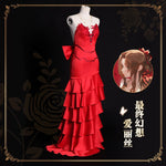 Load image into Gallery viewer, Final Fantasy VII 7 Remake Alice Role Play Red Dress Outfit Elegant Lovely Cosplay Costume Halloween Party Suit