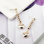 Load image into Gallery viewer, Anime HUNTER X HUNTER Hisoka Earrings Gold Heart Pendant Beaded Tassel Earrings For Women Men Cosplay Jewelry