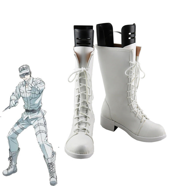 Cells at Work! White blood cell Neutrophil Kochukyu Cosplay shoes boots