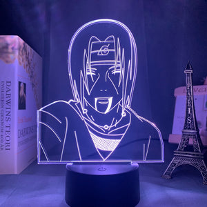 Anime Lamp Naruto Sasuke and Itachi Uchiha for Kids Child Bedroom Decor Nightlight Rgb Colorful 3d Led Night Light Manga Gift