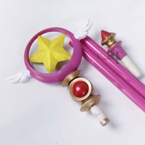 Card Captor Sakura Birdhead Star Magic Stick Wand Staves Cosplay Accessorie Porp