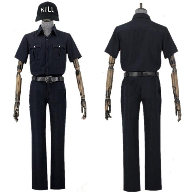 Cells at Work Killert Cell Hataraku Saibo White Blood Killer T Cell Cosplay Costume