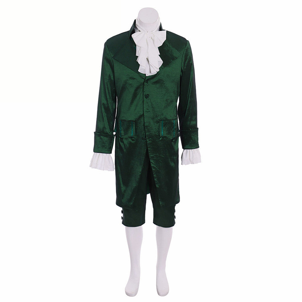 musical hamilton lin colonial green outfit cosplay costume