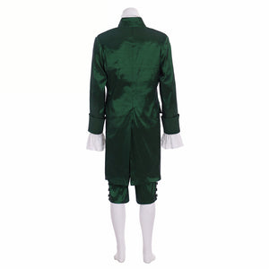 Musical Hamilton Lin Manuel  Colonial Red Green outfit Cosplay Costume Custom Made