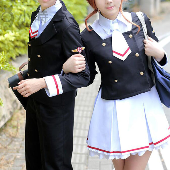 Card Captor Sakura CLEAR CARD Shaoran Li Junior high school uniforms cosplay costume