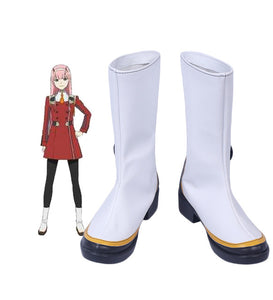 DARLING in the FRANXX CODE 002 Zero Two Cosplay Boots Shoes White Custom Made