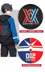 Load image into Gallery viewer, Darling In The Franxx Zero Two 02 Jacket Zipper Hoodie Long Sleeve Hooded Coat Anime Tops Cosplay Costume