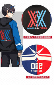 Darling In The Franxx Zero Two 02 Jacket Zipper Hoodie Long Sleeve Hooded Coat Anime Tops Cosplay Costume