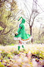 Load image into Gallery viewer, Date A Live Yoshino Cosplay Costume Green Hooded Coat Halloween Costumes for Women Coat+Shoes+Plush Toy S-XL/Custom Made