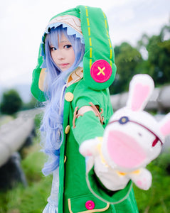 Date A Live Yoshino Cosplay Costume Green Hooded Coat Halloween Costumes for Women Coat+Shoes+Plush Toy S-XL/Custom Made