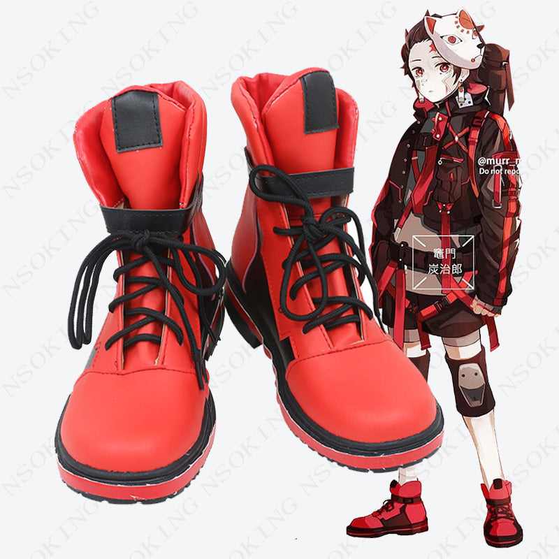 Demon Slayer : Kimetsu no Yaiba Kamado Tanjirou Cosplay shoes Anime boots