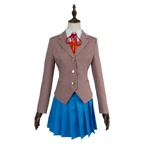 Doki Doki Literature Club Cosplay Sayori Natsuki Yuri Monika School Uniform Cosplay Costume