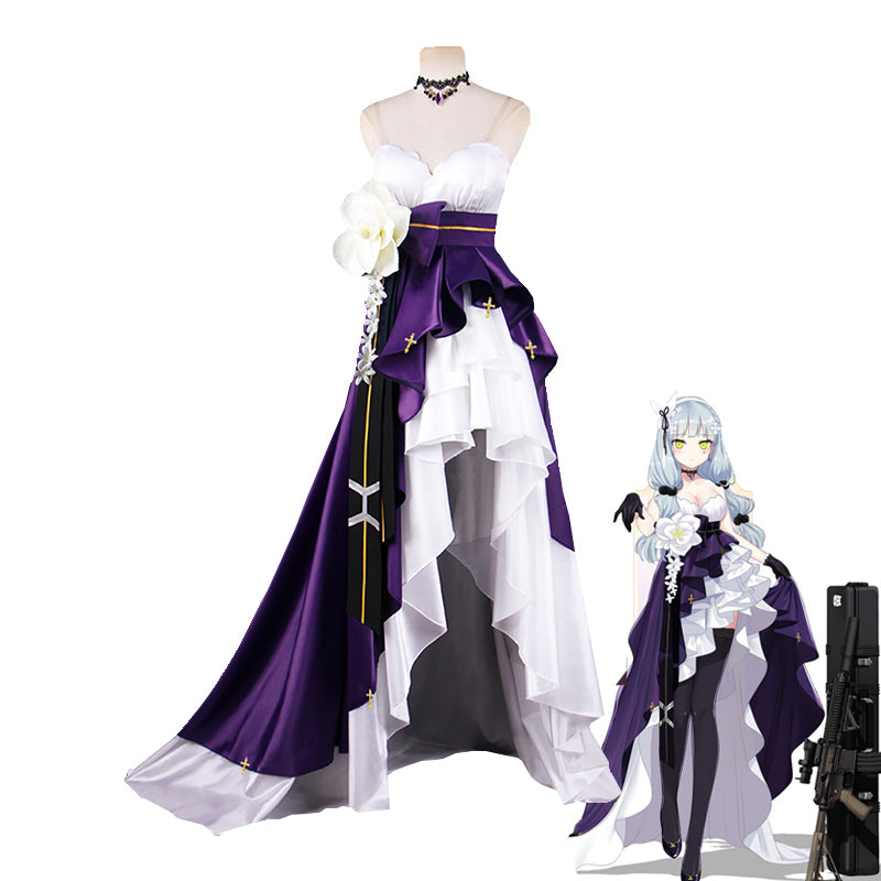 First Anniversery Game Girls Frontline HK416 Cosplay Costume Women's Delux Fomal Dress Custom Made
