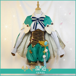Game Genshin Impact Project VENTI Cosplay Costume Fancy Outfits