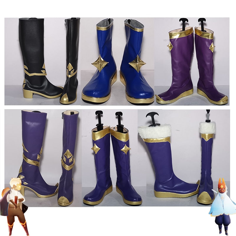 Game Sky: Light Awaits Shoes Sky Children of Light Cosplay Props Accessories Halloween Carnival PU Leather Boots Custom Made