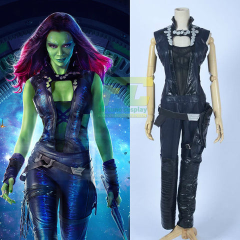 Guardians of the Galaxy Film Gamora Cosplay Costume Custom Made