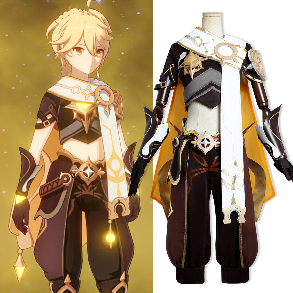 Genshin Impact Aether Male Main Character Traveler Cosplay Costume Kong Outfit Custom Made