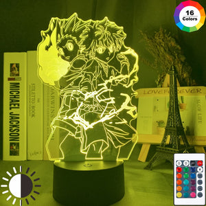 Gon and Killua Figure 3d Night Light Anime Hunter X Hunter Nightlight for Kid Bedroom Decor Lighting Child Gift HxH Lamp Bedside