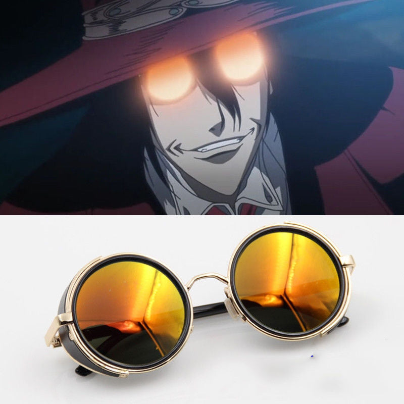 HELLSING Alucard Vampire Hunter Tailored Dark Cosplay Glasses Sunglasses Prop