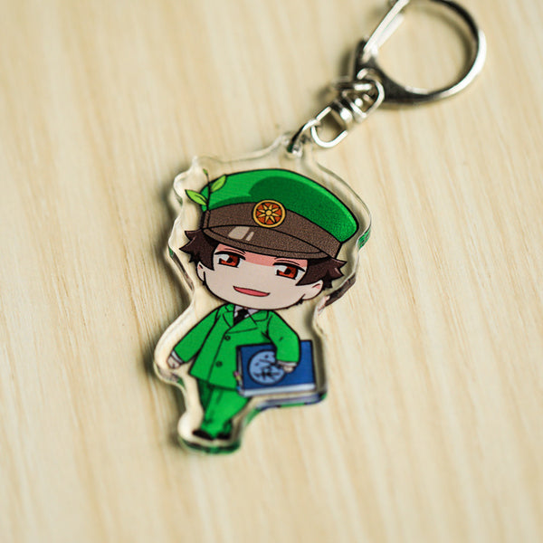 Cells At Work Keyring White Blood Cell Killer T Cell Platelet Acrylic Keychain Charm